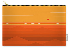Hot Orange Ocean Carry-all Pouch