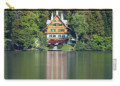 Carry-all Pouch featuring the photograph House On The Lake by Davor Zerjav