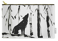 Carry-all Pouch featuring the painting Howl #2 by Maria Langgle