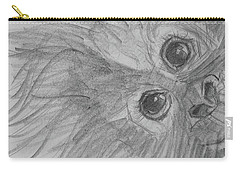 Carry-all Pouch featuring the drawing How's It Hangin'? Sketch by Jani Freimann