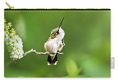 Carry-all Pouch featuring the photograph Hummingbird Flexibility by Christina Rollo