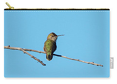 Carry-all Pouch featuring the photograph Hummingbird by Lukas Miller