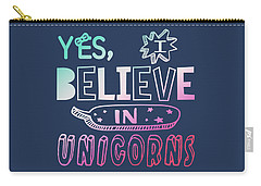 I Believe In Unicorns - Baby Room Nursery Art Poster Print Carry-all Pouch
