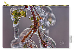 Carry-all Pouch featuring the photograph Ice Capsule by Meta Gatschenberger