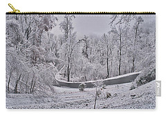 Carry-all Pouch featuring the photograph Ice Storm by Meta Gatschenberger