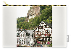 Carry-all Pouch featuring the photograph Idar-oberstein-view On A Bridge by PJ Boylan