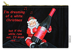 Carry-all Pouch featuring the photograph I'll Drink Red At Christmas by Kay Brewer