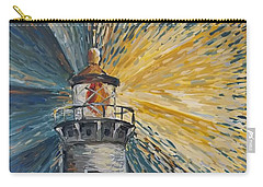 Carry-all Pouch featuring the painting Illumination by Maria Langgle