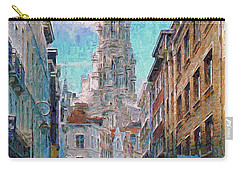 Carry-all Pouch featuring the photograph In-spired  Street Scene Brussels by Leigh Kemp