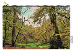 Carry-all Pouch featuring the photograph In The Woods by Leigh Kemp