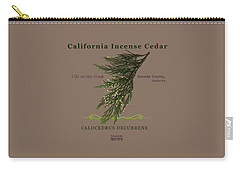 Incense Cedar - Brpwn Text Carry-all Pouch