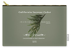 Incense Cedar - White Text Carry-all Pouch
