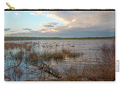 Carry-all Pouch featuring the photograph Incoming In The New Jersey Pine Barrens by Kristia Adams