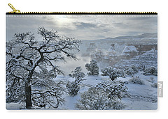 Independence Canyon At Sunrise In Colorado National Monument Carry-all Pouch