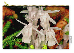 Indian Pipes On Club Moss Carry-all Pouch
