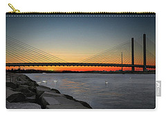 Carry-all Pouch featuring the photograph Indian River Bridge Over Swan Lake by Bill Swartwout Fine Art Photography