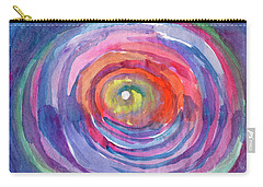 Carry-all Pouch featuring the painting Infinity Abstraction by Dobrotsvet Art