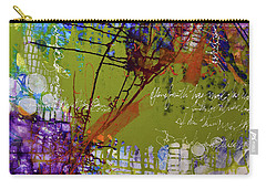 Carry-all Pouch featuring the mixed media Inner Faith by Kate Word