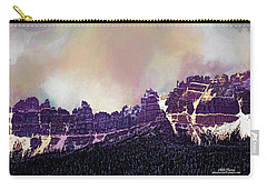 Carry-all Pouch featuring the digital art Inside Yellowstone by Mike Braun
