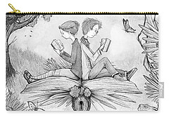 Into An Open Book Carry-all Pouch