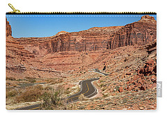 Carry-all Pouch featuring the photograph Into The Red Cliffs by Andy Crawford