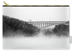 Carry-all Pouch featuring the photograph Inwood Hill With Fog by Cole Thompson