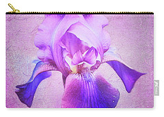 Pretty In Purple Iris Carry-all Pouch