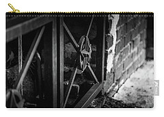 Carry-all Pouch featuring the photograph Iron Gate In Bw by Doug Camara