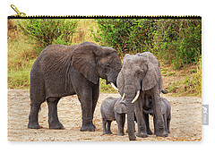 Carry-all Pouch featuring the photograph It's Twins by Kay Brewer