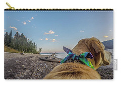 Carry-all Pouch featuring the photograph Jackson Lake By Photo Dog Jackson by Matthew Irvin
