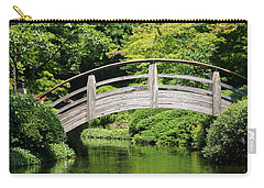 Carry-all Pouch featuring the photograph Japanese Garden Arch Bridge In Springtime by Debi Dalio
