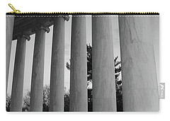 Jefferson Memorial In Black And White Carry-all Pouch