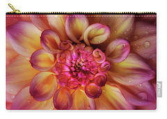 Carry-all Pouch featuring the photograph Jewel Drops Dahlia by Mary Jo Allen