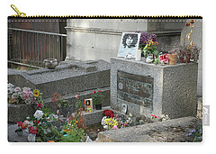Carry-all Pouch featuring the photograph Jim Morrison's Grave by Jim Mathis