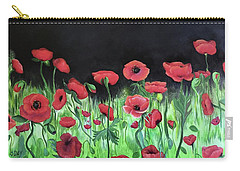 Jon's Poppies Carry-all Pouch