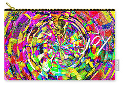 Carry-all Pouch featuring the mixed media Joy by Jessica Eli