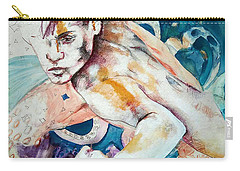 Carry-all Pouch featuring the painting Justice League Aqua Lad  by Rene Capone