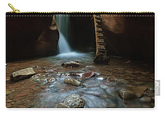 Carry-all Pouch featuring the photograph Kanarraville Falls by Tassanee Angiolillo