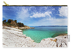 Kanoni Beach In Corfu Island Carry-all Pouch