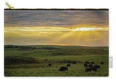 Kansas Flint Hills Sunset Carry-all Pouch