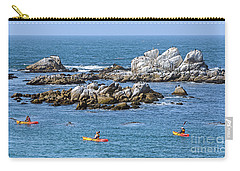 Kayakers Experience Bird Rock At Pacific Grove Carry-all Pouch
