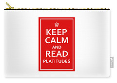 Keep Calm - Read Platitudes Carry-all Pouch