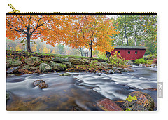 Carry-all Pouch featuring the photograph Kent Falls Autumn 2018 by Bill Wakeley