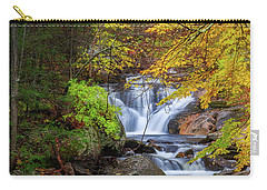 Carry-all Pouch featuring the photograph Kent Falls Foliage Square by Bill Wakeley
