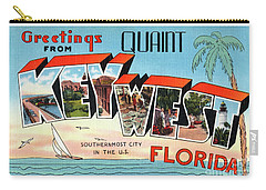 Key West Greetings Carry-all Pouch