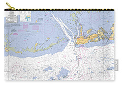 Key West Harbor And Approaches, Noaa Chart 11441 Carry-all Pouch