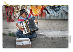 Kid Playing Accordeon Carry-all Pouch