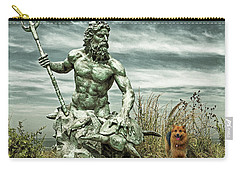 Carry-all Pouch featuring the photograph King Neptune And Miss Hanna At Cape Charles by Bill Swartwout Fine Art Photography