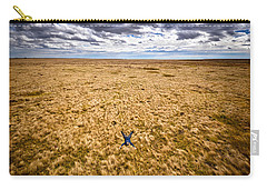 Carry-all Pouch featuring the photograph King Of The Hill by Carl Young