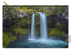 Carry-all Pouch featuring the photograph Koosah Falls, Autumn  by Matthew Irvin